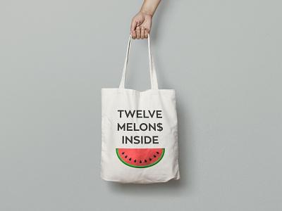 Totebag 12 melon$ eko funny happy bag totebag inside melon 12 melons