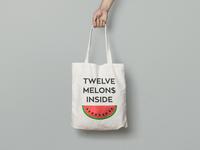 Totebag 12 melon$