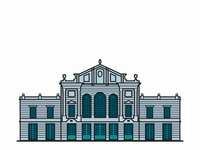 Old Market Hall - illustration