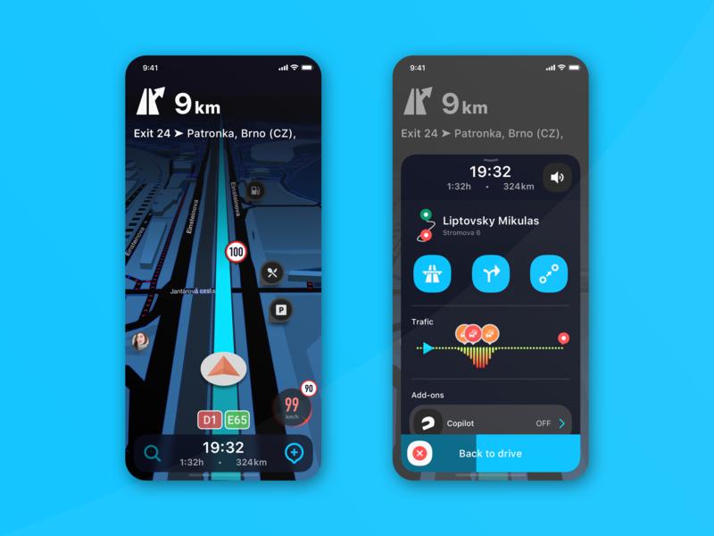 Mobile Navigation UI mobile navigation mobile navi mobile app gps navigation sketch app vector uiux ios ui design