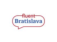 logotype fluent Bratislava vector typography branding illustration bratislava logo design