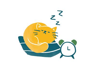 Hélou illustration dyeos helou sleep cat