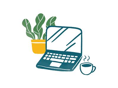 Hélou helou dyeos illustration plant desktop work