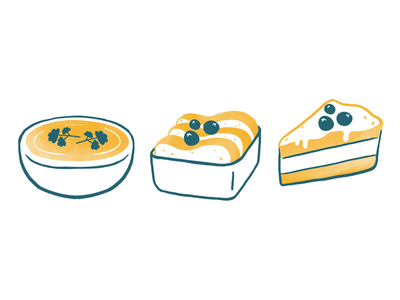 Hélou helou dyeos illustration food illustration food sugar cake soup breakfast lunch eat