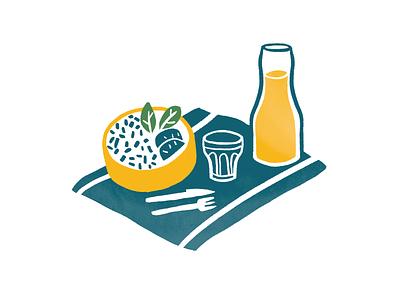 Hélou dyeos illustration bowl eat drink food helou