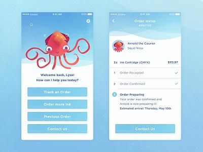 Brief #8 - Squid.ink interface ui ios ink timeline order octopus squid illustration dyeos vossier