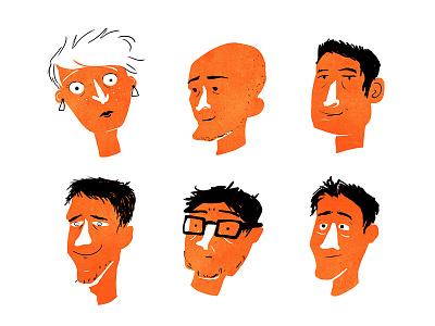 Some portraits character dyeos illustrations colors woman man people portrait