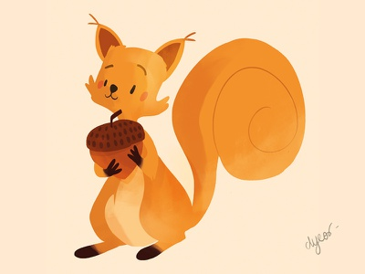 Squirell collection squirrel illustration dyeos cute color character animal