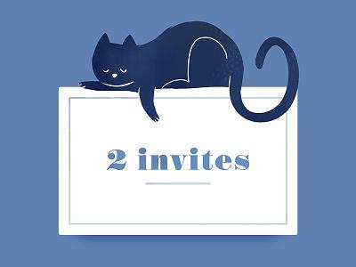 2 invites sarah lepreux dyeos invitation sleep illustration kat kitty dribbble invite