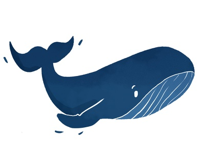 Made With Care - The whale made with care whale illustration dyeos blue marine sea animal