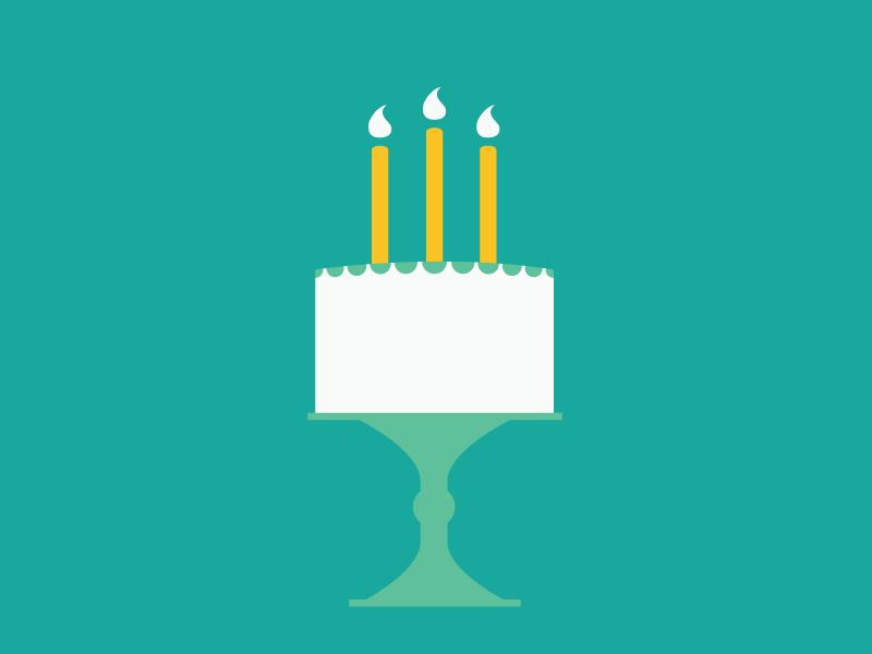 Birthday Cake candles birthday cake illustrator illustration