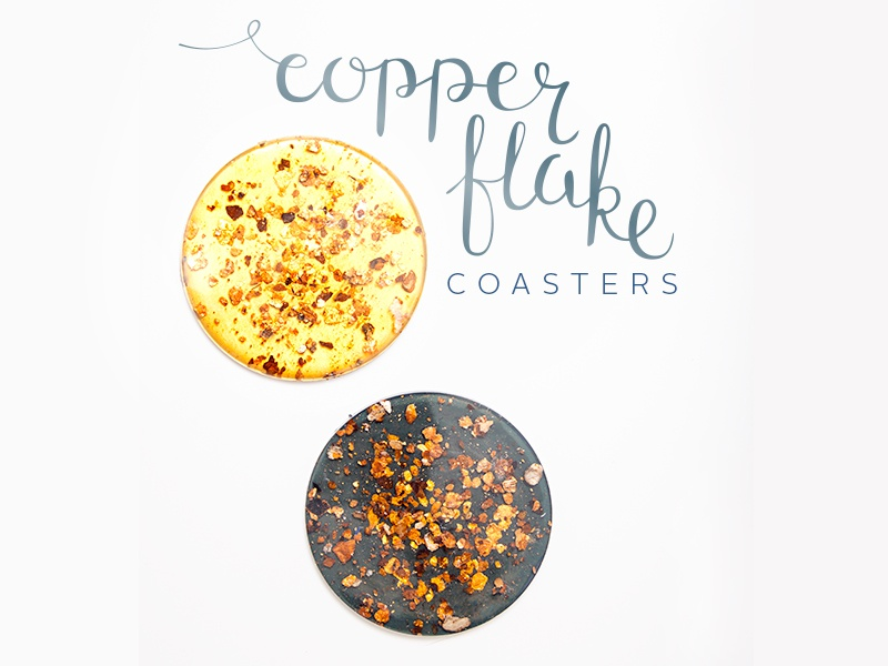 Copper Flake design photography calligraphy hand lettering