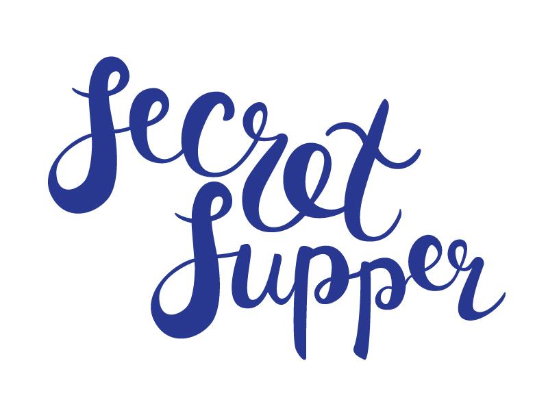 Secret Supper hand lettering hand type brush type