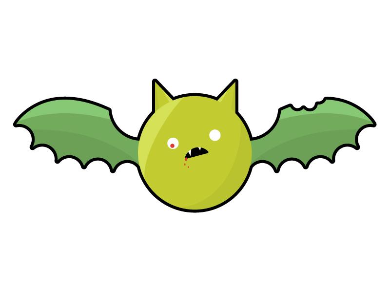 Zombie Bat halloween vector illustration zombie bat
