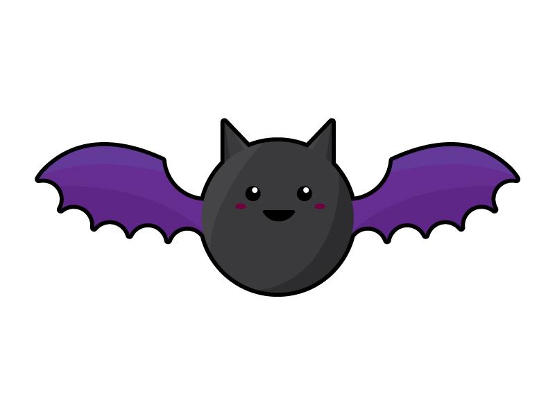 Bat illustration vector halloween bat