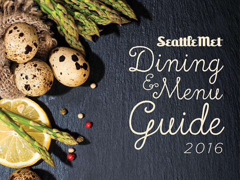 Dining and Menu Guide photography magazine print cover food
