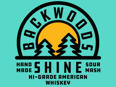 Backwoods moonshine typography branding graphic illustrator adobe vector illustration