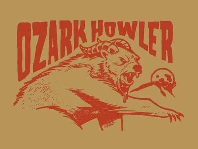 Ozark Howler beast monster cryptid ozarks design graphic illustrator adobe vector illustration