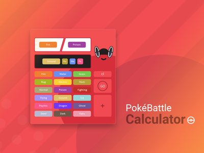 Daily UI 004 - Calculator nintendo video games gaming black orange red challenge daily ui calculator pokemon