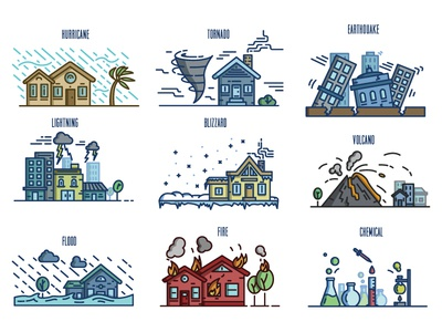 Emergency and Disaster Illustrations - Color