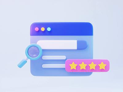 Search result score search motion graphics graphic design design animation illustration 3d