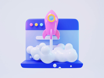 3D animation-accelerate success interface rocket accelerate success motion graphics graphic design animation illustration 3d