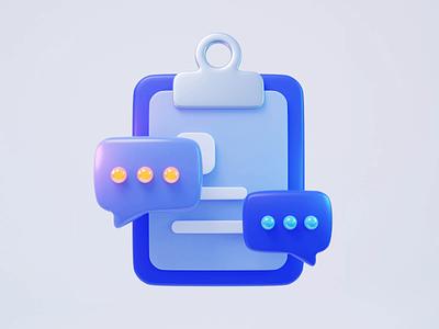 Instant message instant message graphic design motion graphics animation design illustration 3d