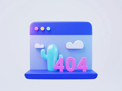3D animation-404 404 graphic design motion graphics animation design illustration 3d