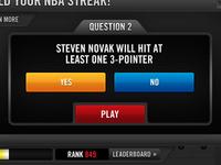 NBA Challenge predictive game