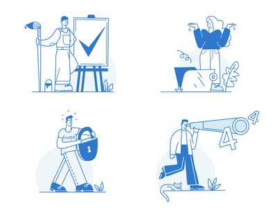 Empty states illustrations webillustration flatillustration figurative flat vector design ui illustration