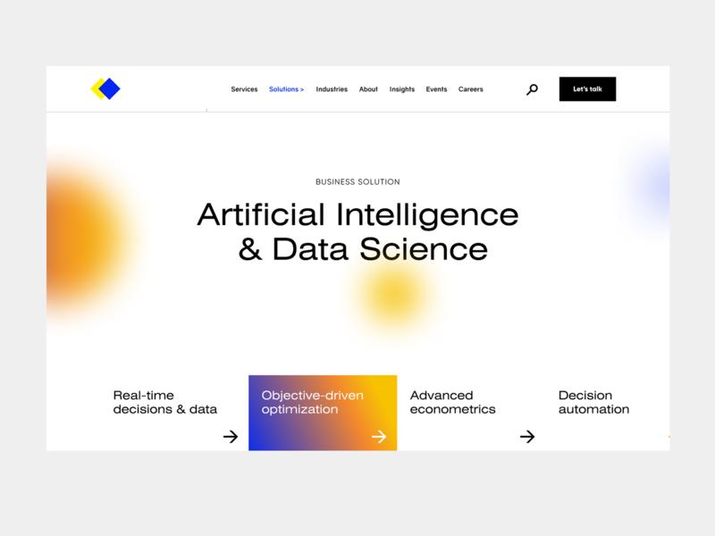 Data Science page branding uxui web-design design ui