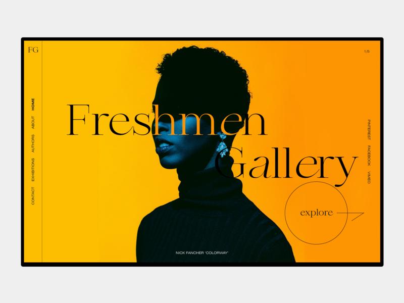 Gallery's hero screen uxui branding web-design design ui