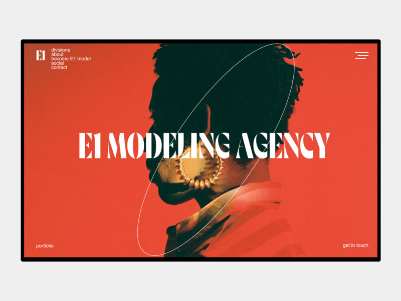 Modeling agency fashion typography ux branding uxui web-design design ui