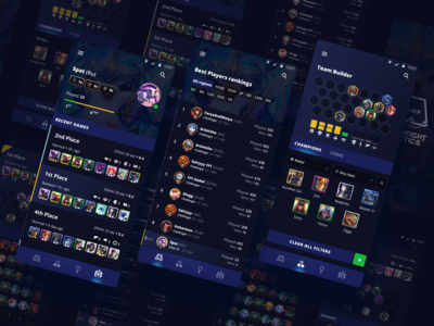 teamfight tactics galaxy 🌌 ui  ux riot tft uiux mobile game ui figma design figma