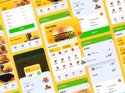 Food app delivery app delivery mobile ui design app application color ios android app design dribbble best shot food burger mobile web figmadesign interface ux figma ui
