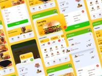 Food app delivery app delivery mobile ui design app application color ios android app design dribbble best shot food burger mobile web figmadesign interface ux figma ui
