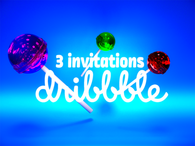 🍭 3 invitations 🍭 candy invite blender3d 3d chupa chups chupachups render invitation blender