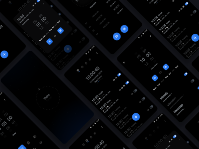 Wake Time ui  ux figma app concept app design dark theme mobile app
