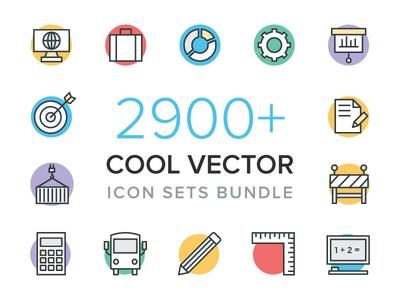 2900+ Cool Vector Icons Bundle icon bundle cool vector icons set of icons icons set flat icons colored icons icons cool icons vector icons