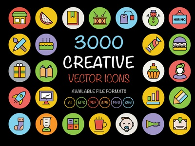 3000 Creative Vector Icons flat icon web icons universal icons icons bundle set of icons flat icons colored icons icons icon