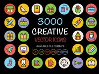 3000 Creative Vector Icons