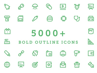 5000+ Bold Outline Icons Bundle icon set web icons universal icons icons set vector icons icons stroke line outline bold outlines