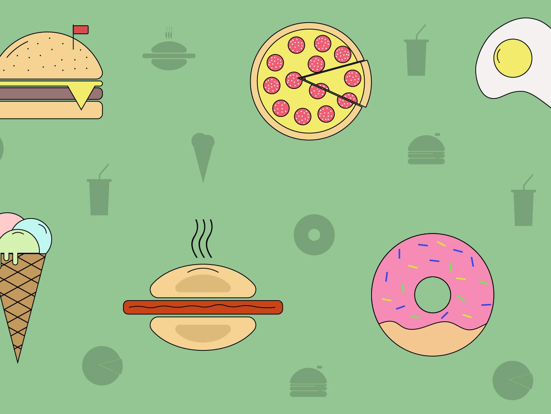 Food art web animation designer website vector typography minimal logo illustrator illustration icon flat design branding
