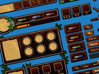 Wooden Game UI Pack