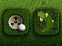Golf app icons