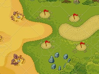 Tower Defence - Beach Elements
