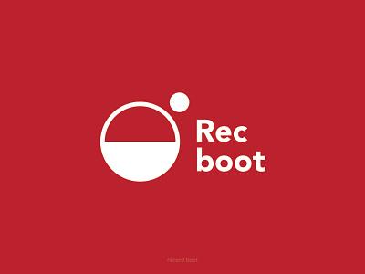 Logotype rec boot good red sounds music app boot music icon typography illustration vector branding logo lyamindesign hashdogdesign izhevskdesigner design