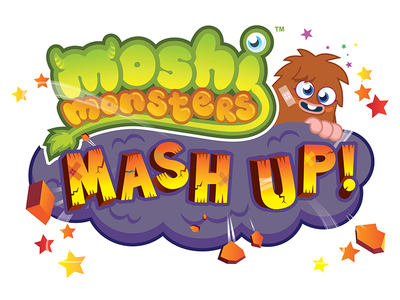 Mosh Monsters Mash Up! typography logo