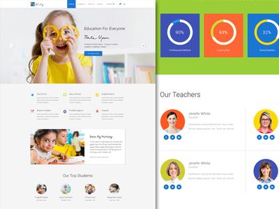 Primary – Kids & Kindergarten School PSD Template
