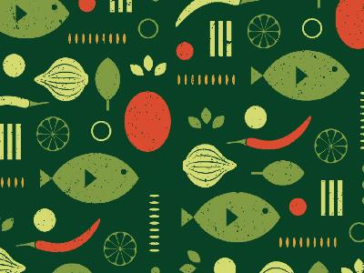 Thailand taste flavor pattern green lime garlic basil papaya fish food dinner thailand